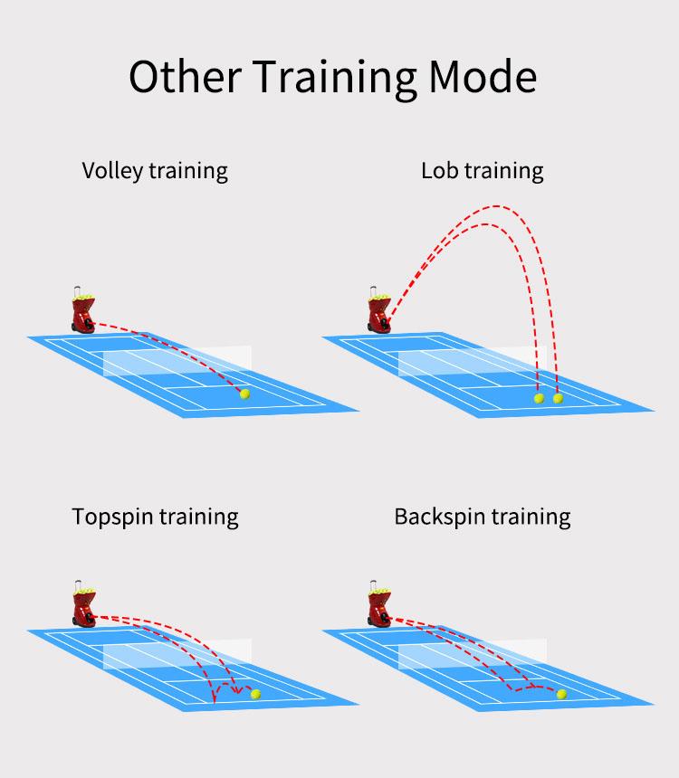 Tennis launching robot machine