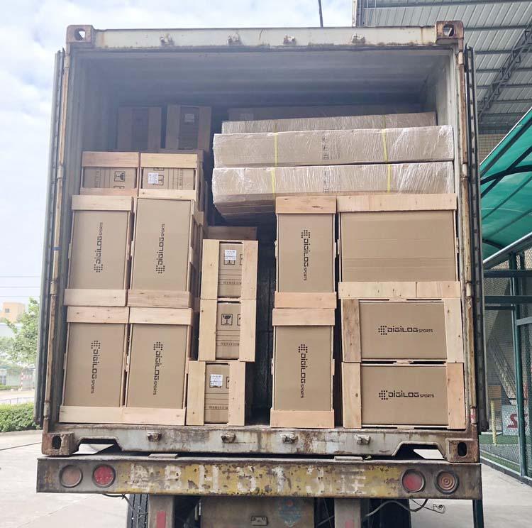 tennis machine shipping