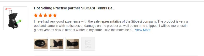 feedback of siboasi tennis ball machine