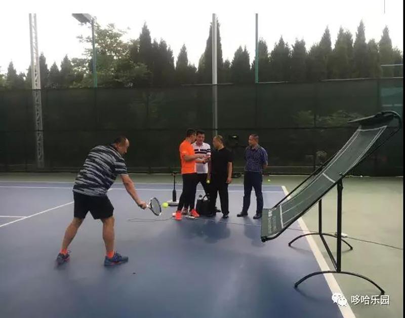 tennis practice training device
