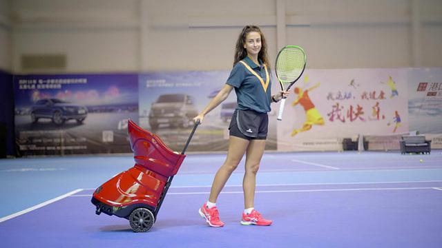 tennis practice ball machine