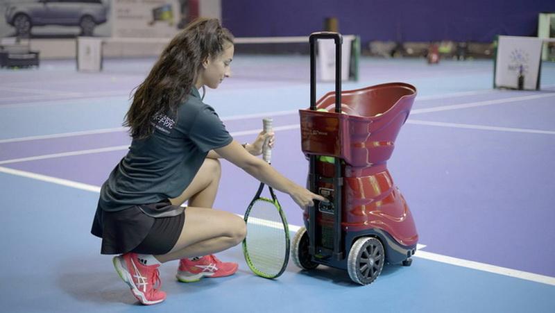 tennis serve coaching machine
